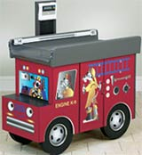 Pediatric Scale Table K-9 Fire Truck Themed