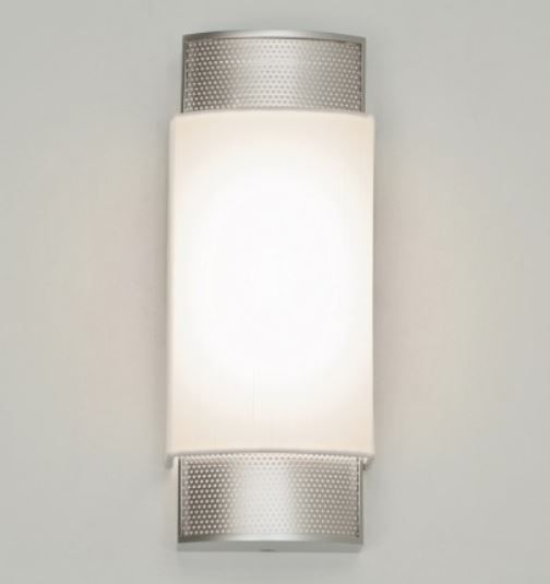 LED Hospital Sconce Light w/ Metal Art Deco Ends