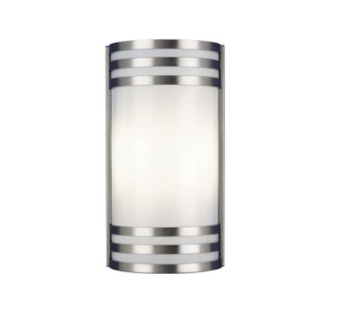 LED Industrial Hospital Sconce w/Metal Band Accent