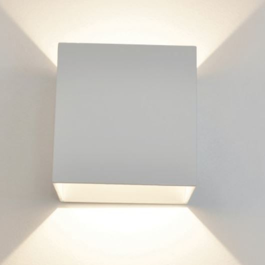 LED Refined Geometric Hospital Sconce Light