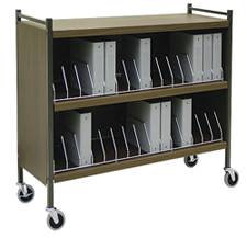 Large Cabinet Style Chart Rack, 30 Binder Capacity