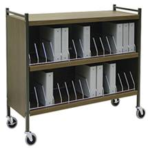 Large Cabinet Style Chart Rack, 36 Binder Capacity