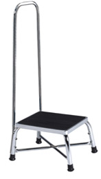 Large Chrome Bariatrics Step Stool w/ Handrail
