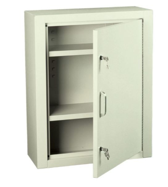 Large Narcotics Cabinet with 2 Shelves