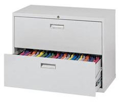 Lateral File Cabinet Two Drawers  Metal Handle