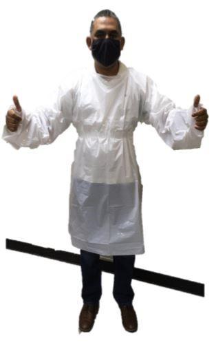 Level 1 Polyethylene Isolation Gowns, White 500/case