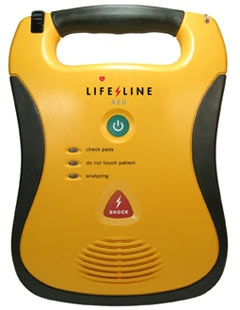 Front view of Defibrillator