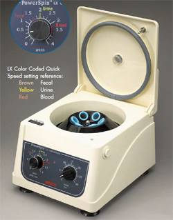 8 Place Variable Speed Centrifuge Speed 4000 RPM