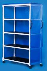 Standard PVC Linen Cart w/ Four Shelves