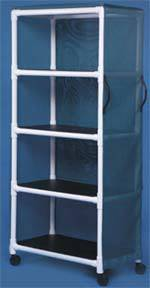 PVC Linen Cart w/ 4 Shelves
