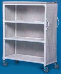 PVC Linen Cart w/ Three Large Shelves