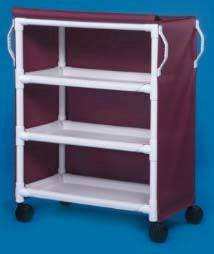 Linen Cart w/ Three Shelves