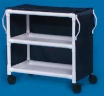 PVC Linen Cart w/ Two Shelves