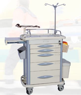 Lite Mobile Emergency Crash Cart with Accessories