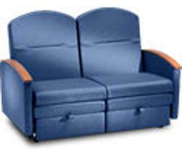 Loveseat Sleeper Chair for Patient Room