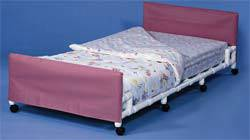 Low Bed for 76in Mattress with Optional Casters