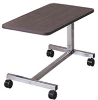 Low Height Overbed Table 4 Point H-Base
