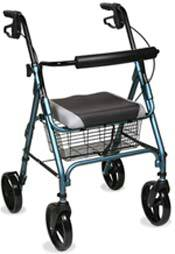 Anodized Blue Rollator