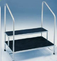 MRI Safe Non-Magnetic Double Step Stool w/ Handrails