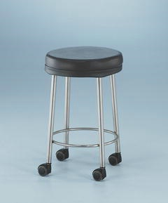 MRI Safe Padded Stainless Steel Stool