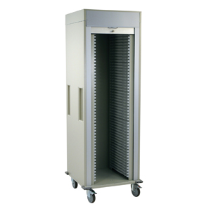 Single Column Medical Storage Cart Tambour Door