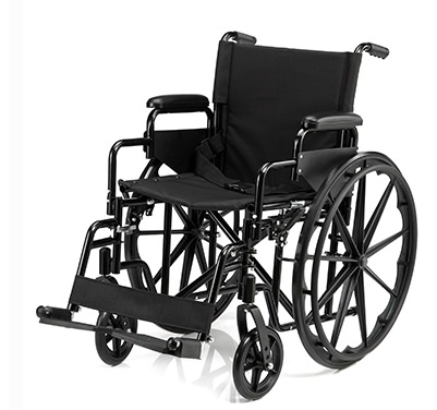Manual Wheelchair w/ Padded Arm Rests
