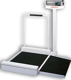 Mechanical Stationary Wheelchair Scale In Lbs Ramp