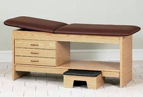 Medical Treatment Table with Stool 30in W