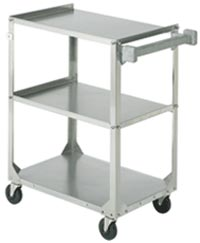 Heavy Duty Stainless Steel Utility Cart w/ 3 Shelves