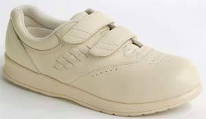 Men S Beige Hook And Loop Dawn Diabetic Shoes