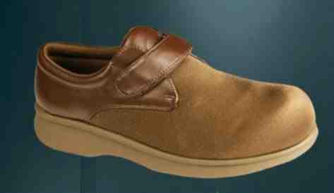 Mens Black Diabetic Shoes Hook and Loop