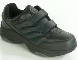 Mens Black Hook  Loop Diabetic Shoes