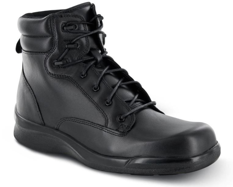 Mens Comfortable Black Lace Bio Boots