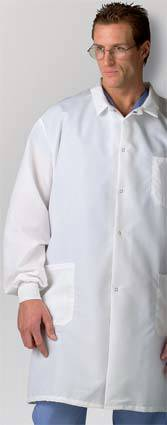 Mens Fluid Resistant Lab Coat