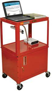 Metal Utility Cart w/ Cabinet