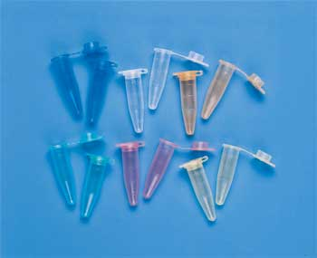 Microcentrifuge 1.5 mL Tubes Assorted Colors