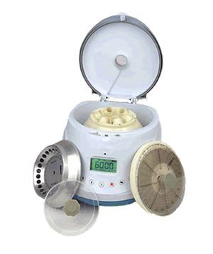 Centrifuge with 3 Interchangeable Rotors