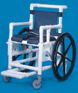 Mid-Size Water-Resistant PVC Wheelchair Open Seat  Pail