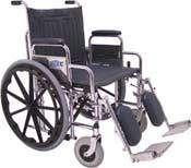 Extra Wide Wheelchair w/ Removable Arms