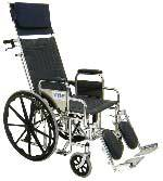 Recliner Wheelchair w/ Removable Arms