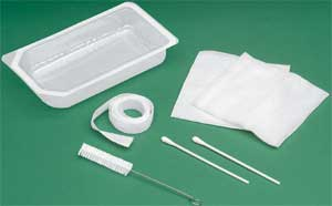 Mini Tracheostomy Clean  Care Tray Non-Sterile