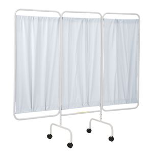 Mobile Antimicrobial 3 Panel Privacy Curtain