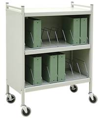Mobile Cabinet Style Chart Rack, 16 Binder Capacity