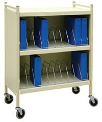 Mobile Cabinet Style Chart Rack, 20 Binder Capacity