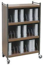 Mobile Cabinet Style Chart Rack 30 Binder Capacity