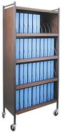 Mobile Cabinet Style Chart Rack, 40 Binder Capacity