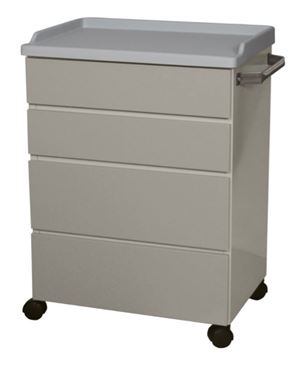 25in Mobile Treatment Cabinet w/ 4 Drawers