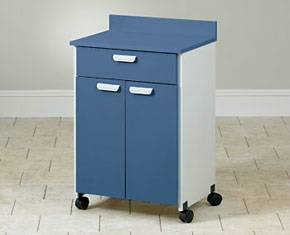 Mobile Treatment Cabinet w/ 2 Doors and 1 Drawer