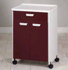 Mobile Treatment Cabinet w/ Moulded Top and 2 Doors & Drawer