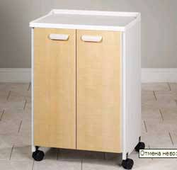 Mobile Treatment Cabinet w/ Moulded Top and 2 Doors